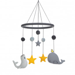 Mobile - baleine et otarie